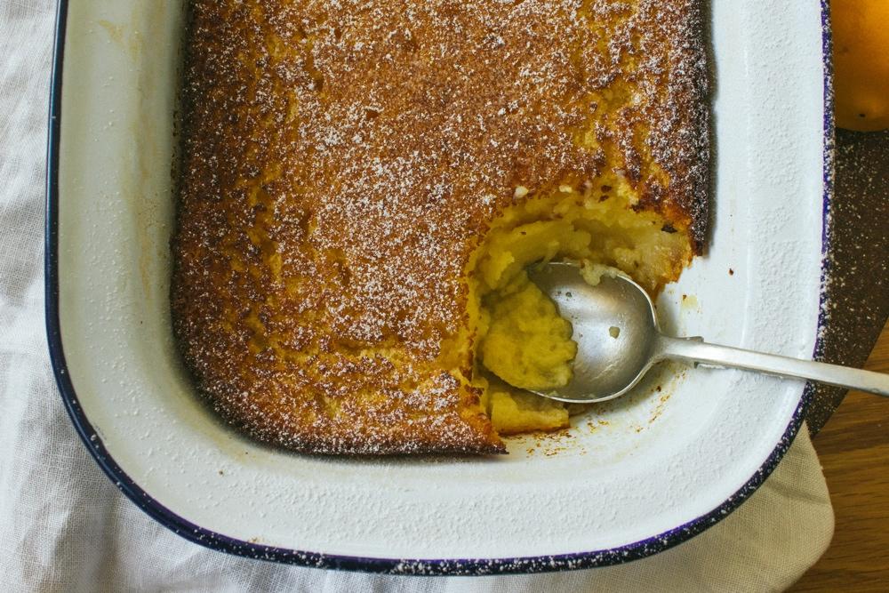 Meyer Lemon Delicious Pudding