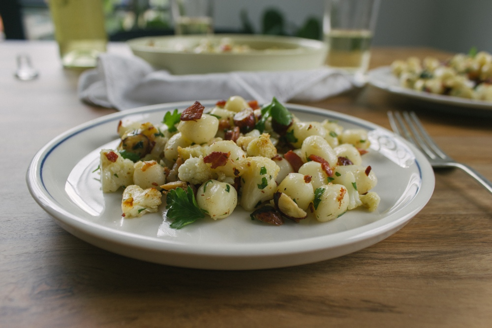 Cauliflower, Pancetta and Hazelnut Gnocchetti | Simple Provisions