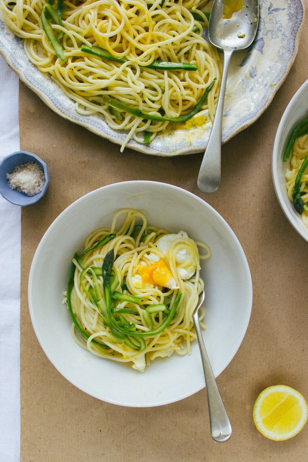 Asparagus Pasta with Poached Egg | Simple Provisions
